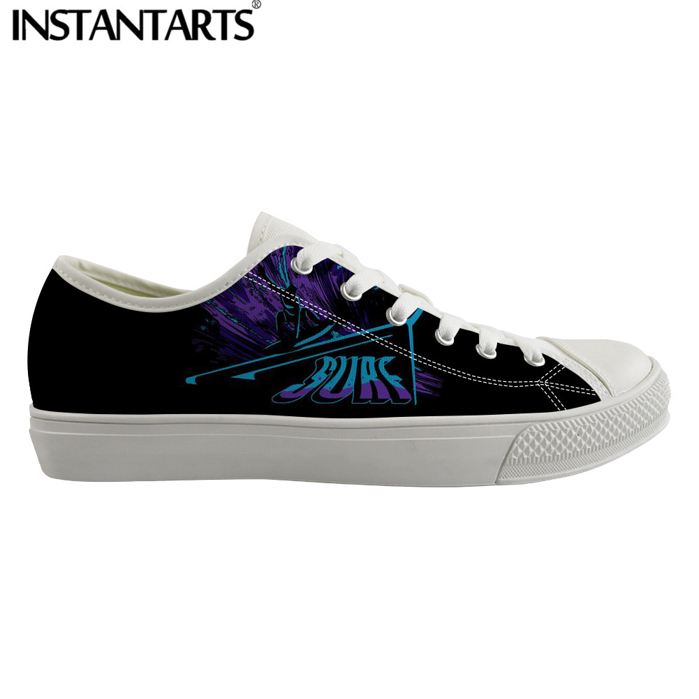 INSTANTARTS high Quality Men s Casual Shoes White Low Top Canvas Sneakers for Male Dropshipping Man