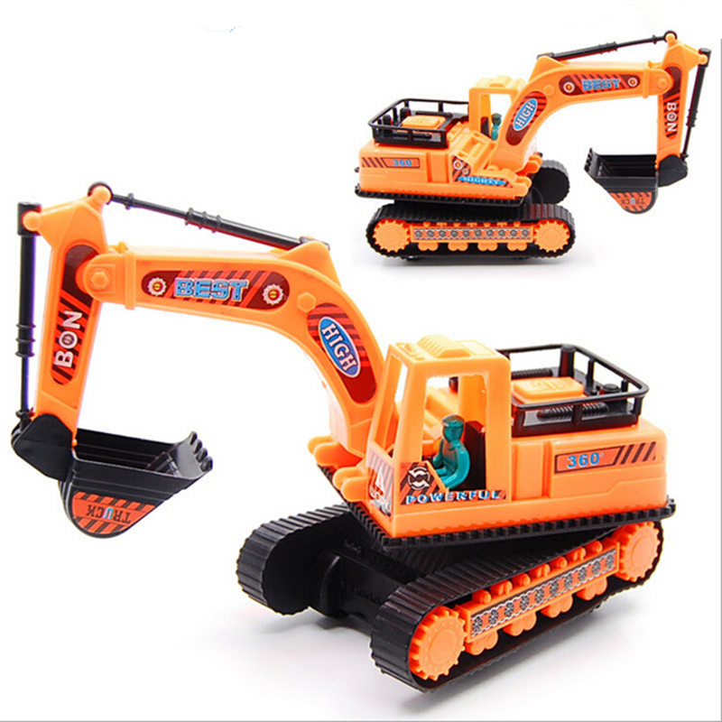 Kids toys with a belt engineering Model car diecast excavator Plastic gift for children boys brinquedos Truck Assembly Recommend lakers шорты