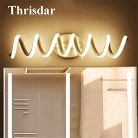 Thrisdar Spiral Shape Bathroom Mirror Wall Lamps Nordic Anti fog Dressing Table Toilet Mirror Lamp Bathroom Vanity Mirror Light