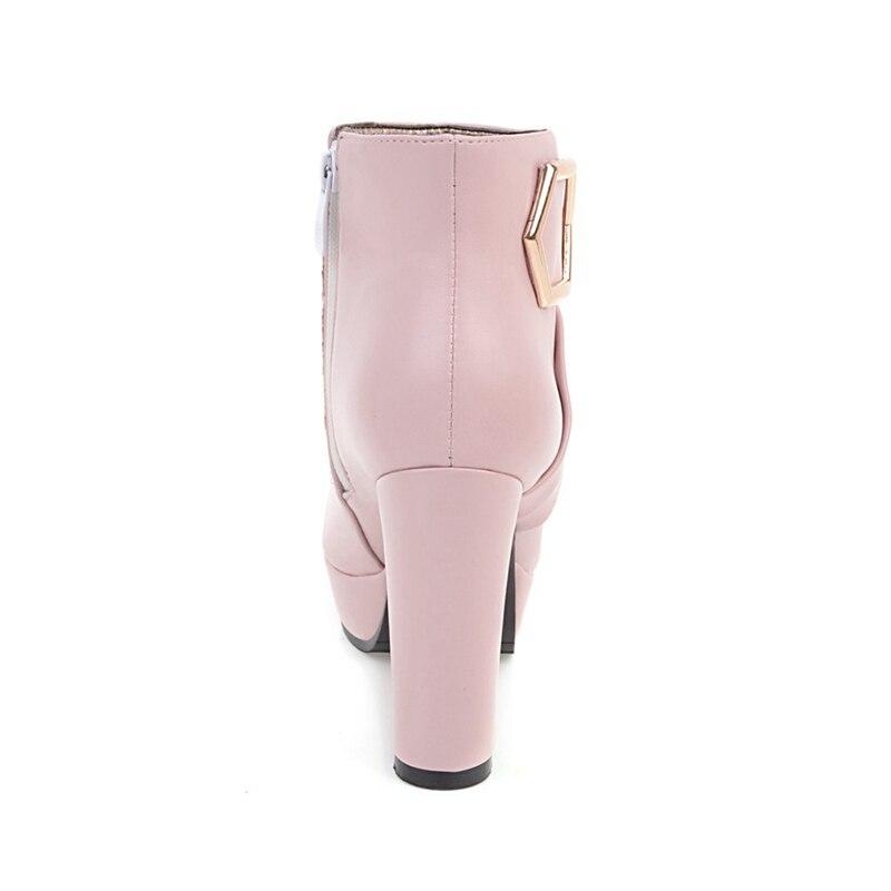 6a6670b0 MVP chłopiec 201 Plus rozmiar 34 43 platforma damskie buty kobieta modne  szpilki czarny różowy beżowy zasunąć kostki buty zimowe w MVP chłopiec 201  Plus ...
