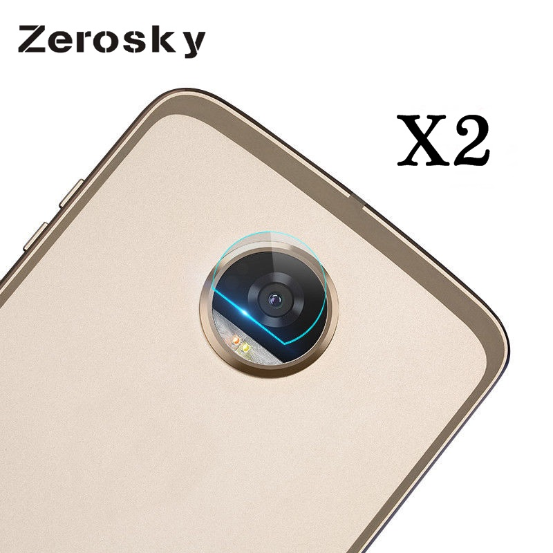 Zerosky 2PCS/Lot Flexible Rear Transparent Back Camera Lens Tempered Glass Film Protector Case For Motorola Moto Z2 Play