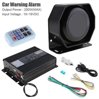 DC10~16V 200W 18 Tone Car Warning Alarm Police Siren Horn PA Speaker with MIC System + Wireless Remote Control
