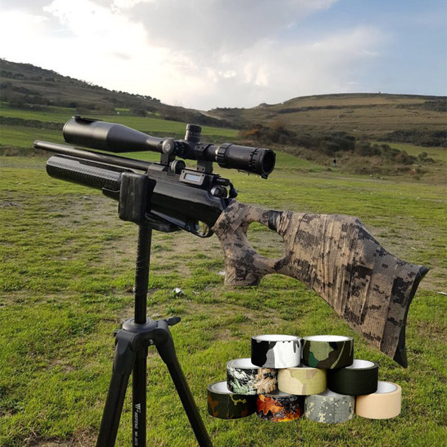 US $4 75 |1Roll 5cm*10m Camouflage Army Bionic Tape Stretch Bandage Outdoor  Hunting Wargame Telescope Gun Camera Ghillie Suit Cloth on Aliexpress com