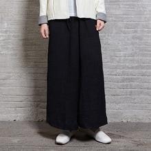 Chinese Traditional Style Mens Women's Wide Leg Pants Capris Trousers  Kung Fu Tai Chi Zen Clothing 100% Linen Nakali N8016