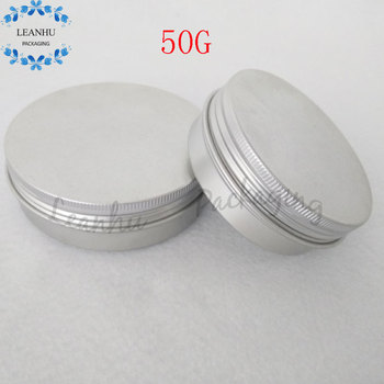 Argent Aluminium Cans With Screw Cap,50G Solid Liquid Eyeliner,Lipstick Container,Refillable Empty Cosmetics Packaging Container