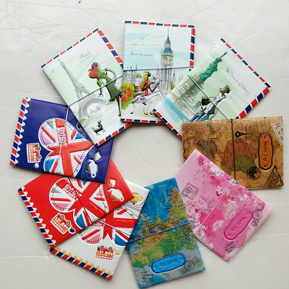 Hot-selling PU&PVC Passport Cover ,Business Card ID Holders For Travel ,Free Shipping With 22 Kinds of Pattern For Choose