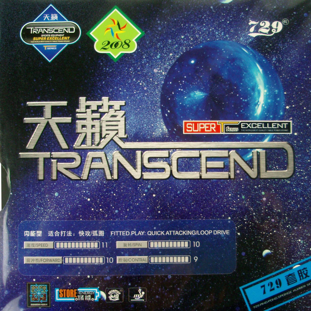 729 TRANSCEND-729 Pips-In Table Tennis PingPong Rubber with Sponge ...