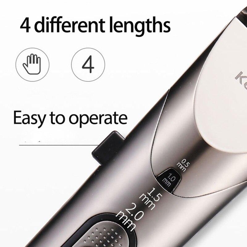 Kemei professionnel tondeuse à cheveux LED électrique tondeuse à cheveux étanche hommes sans fil coupe de cheveux Machine réglable lame faible bruit - 5