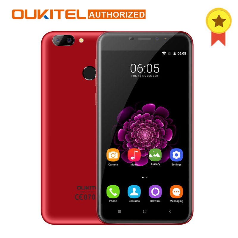 Oukitel U20 Plus Smartphone 5,5 zoll IPS FHD MTK6737T Quad Core 13MP Dual Back Kamera 2 GB + 16 GB Android 7.0 4G Mobile telefon