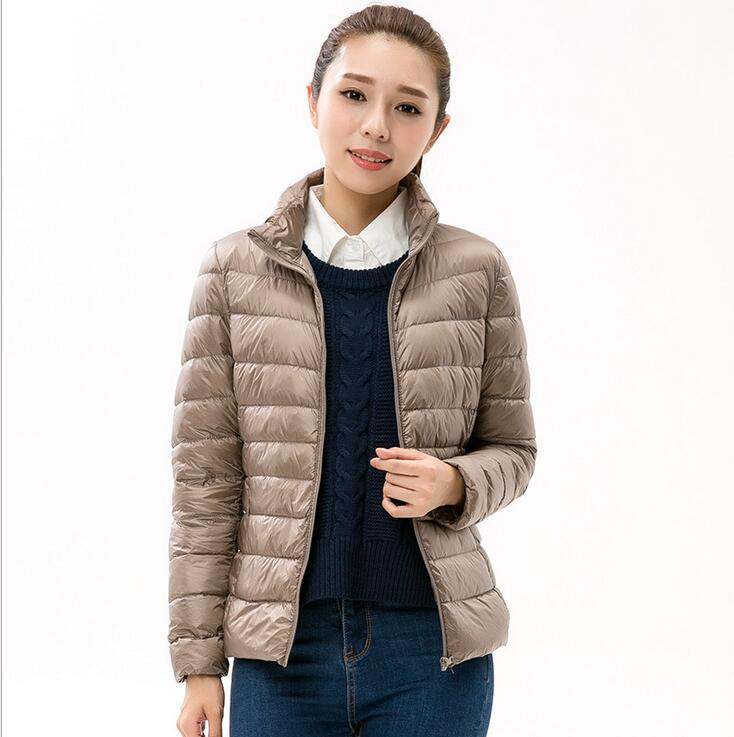 New Women Winter Coat Fashion Female 90% White Duck Down Jacket Ultralight Portable Slim Down Coat Plus Size Outerwear 15 colors