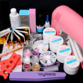 Professional False Nail Art Tips Gel Deco Tools Kit 9W UV Dryer Lamp Tube Nail Art tool Set Ship From Russian