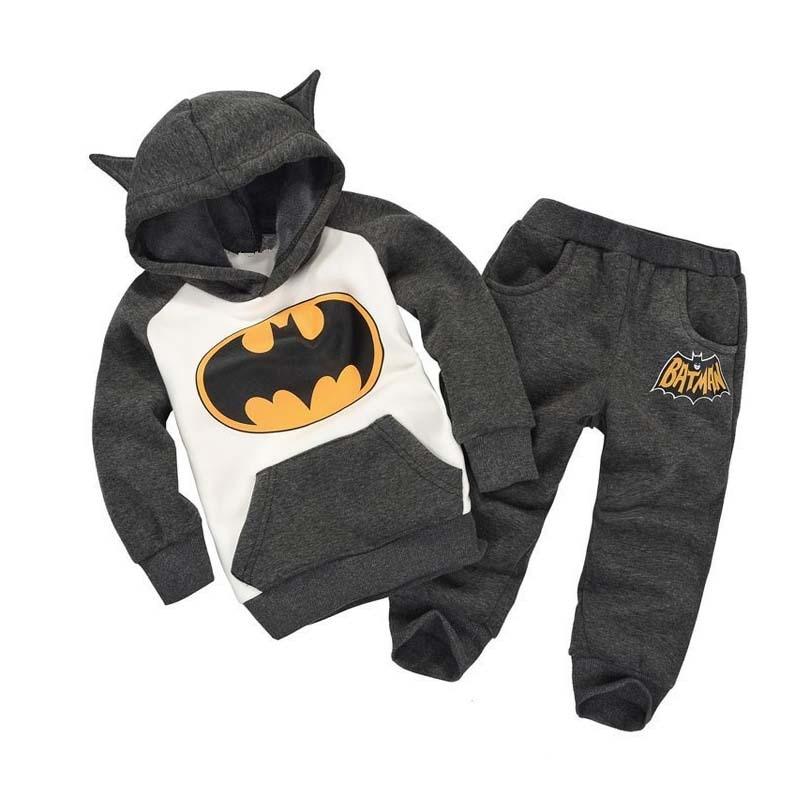 Autumn style children plus velvet clothes kids Batman ...
