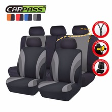 Car-pass 7 Color Universal Car Seat Cover  Full Seat Covers Rear Seat Cover For40/60 50/50 Sedans Auto Interior Accessories