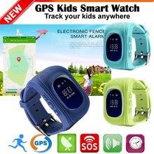 Lemado Seguros Para Niños GPS Reloj Inteligente Reloj SOS de Localización de Llamadas Monitor de Localizador Del buscador Del Perseguidor para el Cabrito Del Niño Perdido Anti negro azul