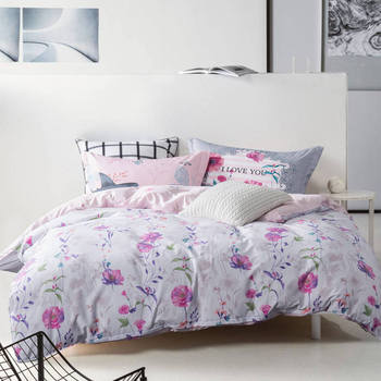 2ca8e62644a Fresco Ropa de cama Flor Blanca Rosa bedlinens 4 5 Unid 100% algodón ...