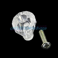 Door Pull Knob Cupboard Cabinet Drawer Handle Hardware 19mm Acrylic Clear H028