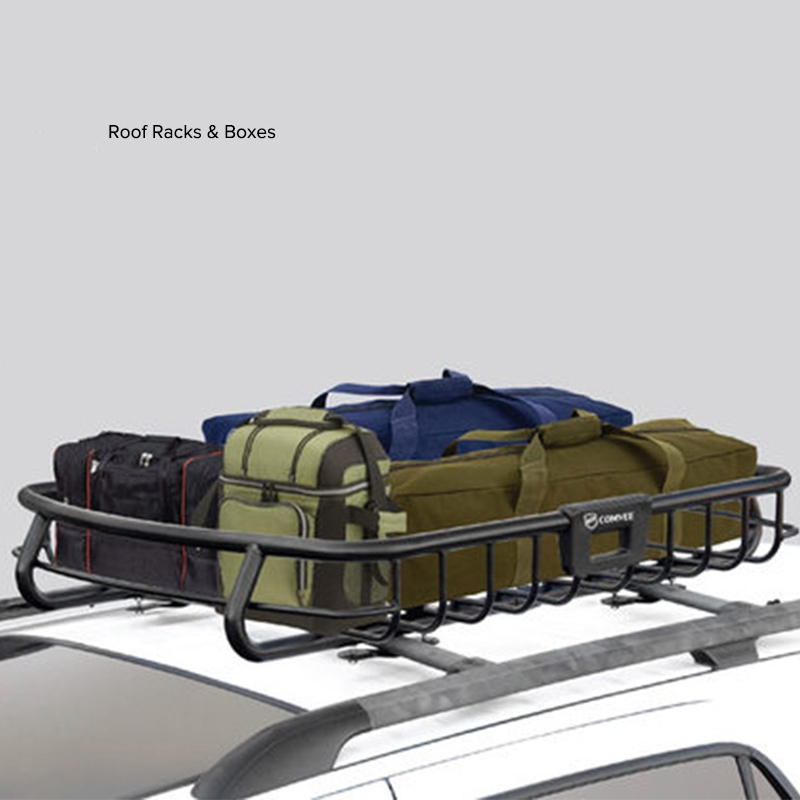 Universal Auto Car Roof Rack Cross Bar Cargo Basket Outdoor Rooftop Luggage Carrier Load 100kg Racks 127cmx103cm In Boxes From Automobiles