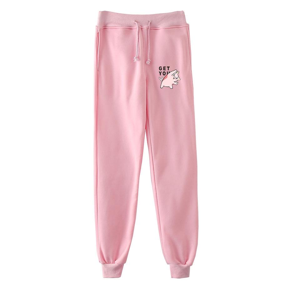 LUCKYFRIDAYF 2019 Kpop Year Of The Pig Anime Sweatpants Fashion Casual Jogger Pants Warm Slim Men/Women