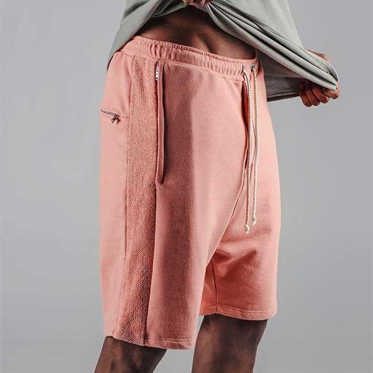 2017 Justin Bieber Shorts Kanye Drop Crotch Drawstring Sweat Shorts Zipper Pocket Mens Hip Hop Harem Short Pants M-XL