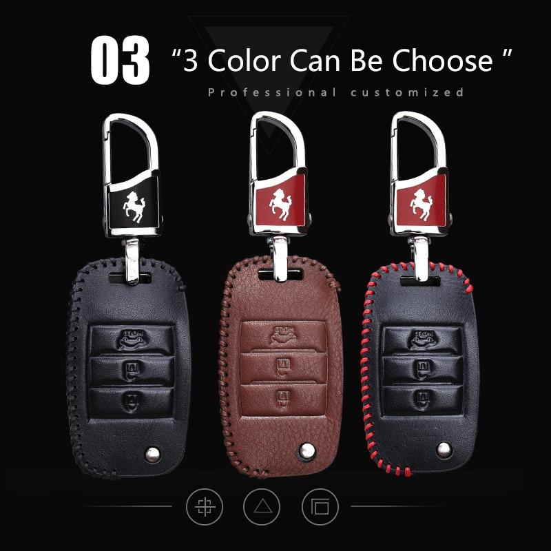 Llave del coche cubierta de la caja inteligente para Kia Rio K2 3 4 - Accesorios de interior de coche - foto 4
