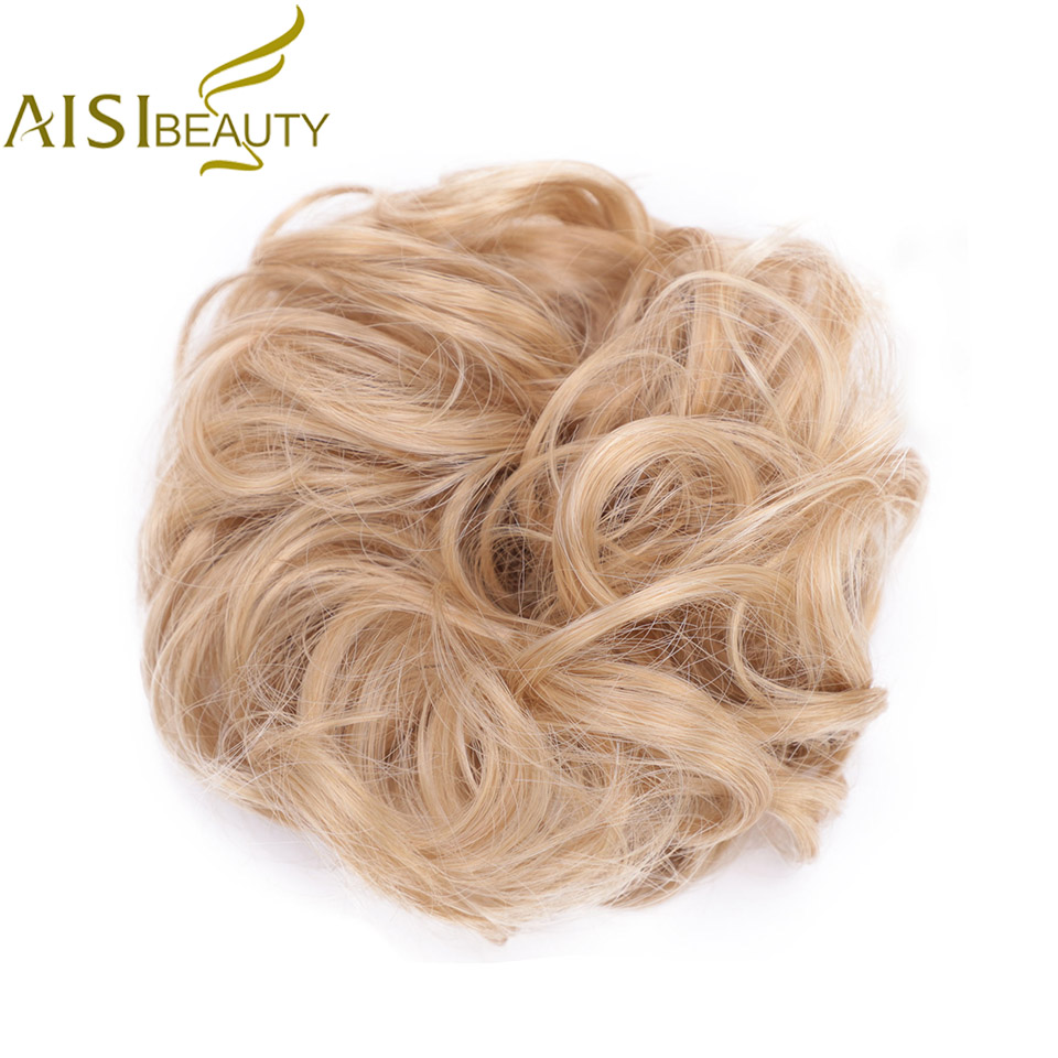 AISI BEAUTY Synthetic Hair Chignons Elastic Scrunchie Extensions Hair Ribbon Ponytail Hair Bundles Updo Hairpieces Hair Buns