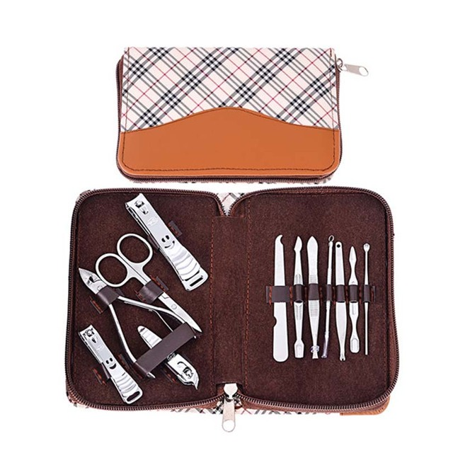 12pc Manicure Set Nail Art Equipment with Nail cutter Clipper Files ...