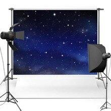 Dark Blue Night Sky Shimmer Novo Tecido de Flanela pano de fundo Da Foto Fotografia Vinil pano de Fundo Para As Crianças Foto Adereços estúdio F2708