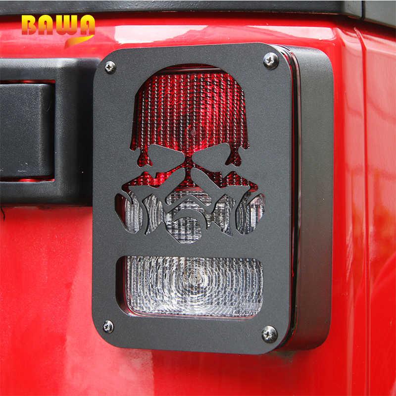 BAWA задний фонарь Крышка лампы каркасы фонарей для Jeep Wrangler JK 2007-2017 алюминиевый сплав автомобильные аксессуары головной свет кольцо Рамка