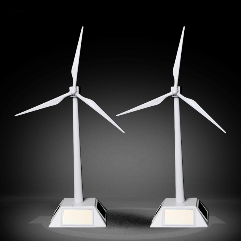 Solar Powered Windmills Model Wind Turbine Model ABS Plastic Toys Easy To Assembled Toys Desktop Model