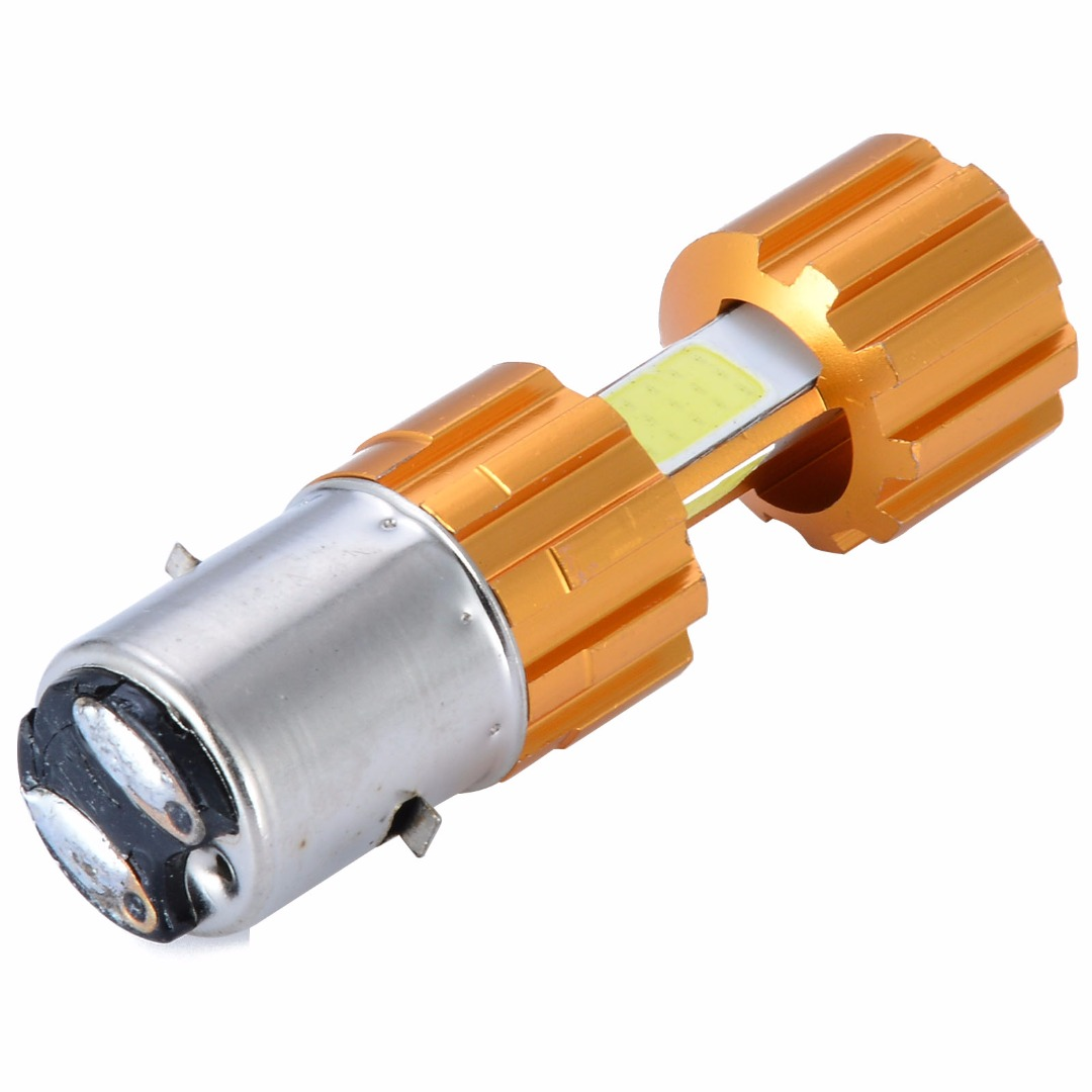 1pc H4 COB LED Motorcycle Bike Hi/Lo Headlight Lamp Bulb 6500K DC 12-24V White Beam Light 1500LM 18W