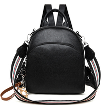 2019 New backpack women shoulder school bags for teenagers Vintage leather Mochila Mujer lady