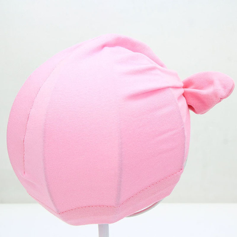 Sweet Baby Hat with Knot Cotton Candy Color Baby Beanie Infant Kids Cap for Girls and Boys Baby Turban Photo Props Accessories in Hats Caps from Mother Kids