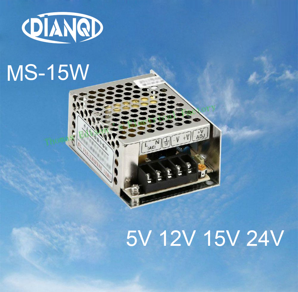 Mini Size Switching Power Supply 15W adjustable 24V Output voltage ac to dc regulator ms-15 5V 12V 15V nes 15 48 ac dc mini size 15w led power supply