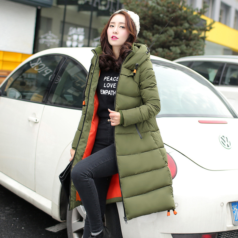 Nuevas Mujeres Escudo Mujer Ropa de invierno Caliente Outwear de Algodón Acolch