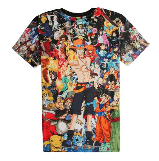 3d One Piece Luffy 3D Print Short Sleeves O-Neck Women's T-Shirt
