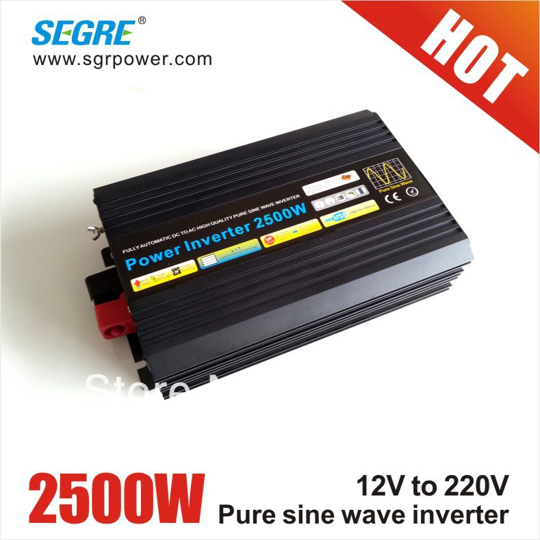Hot Selling 2500w off grid inverter dc to ac 12v 220v pure sine wave inverter.