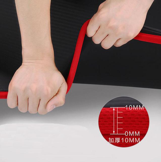Edge Covered Non-slip Yoga Mat 10mm Sports Yoga Mat For Fitness Gym Pilates Colchonete 183*60*10cm For Junior Yoga User 3 in 1