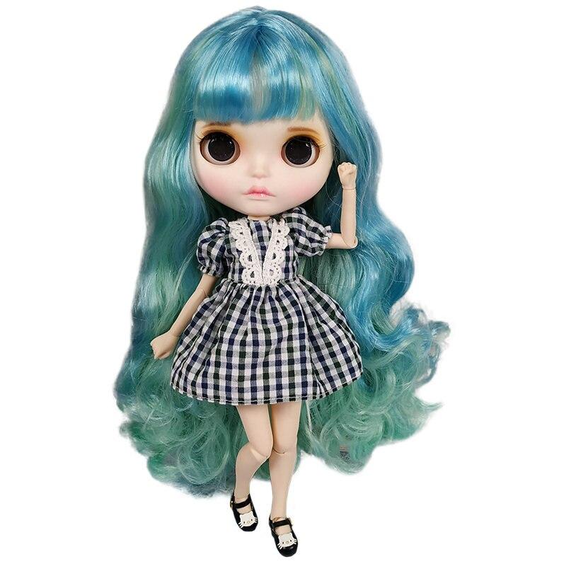 Хорошая цена Blyth кукла BJD индивидуальные матовые лицо кукла может изменить макияж и платье DIY 1/6 кукла на шарнирах с модной одеждой