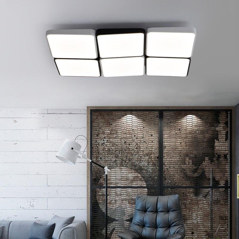 Ultra mince LED Plafonniers Magique Cube Plafond Lampe Salon Chambre Lumineuse Étude Éclairage Lamparas De Techo lampe plafond