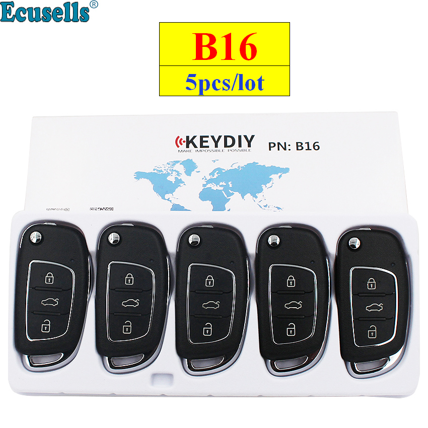 5pcs lot KEYDIY B series B16 3 button universal KD remote control for KD200 KD900 KD900