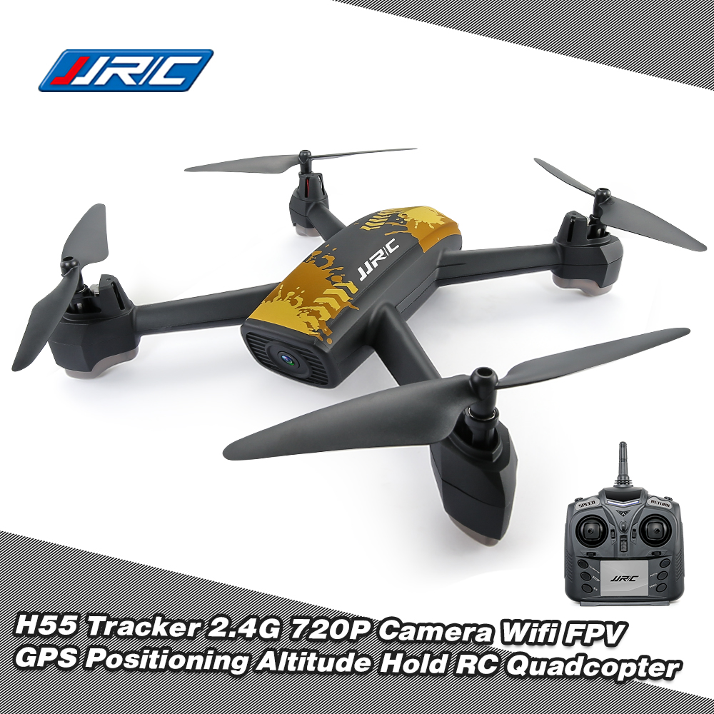 JJR/C JJRC H55 Tracker 2.4G 720P Camera Wifi FPV GPS Positioning Altitude Hold RC Quadcopter Helicopter RC Dron with Camera 2017 new arrival jjrc h40wh wifi fpv with 720p hd camera altitude air land ground mode rc quadcopter car drones helicopter toys