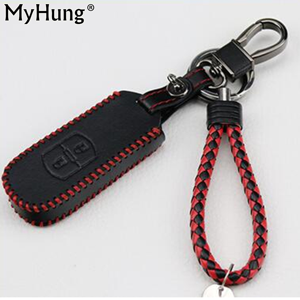 Key Wallet Fit For Mazda 2 M3 M6 CX-5 CX5 Cx-7 2012 2013 2014 2015 2016 Key Wallet Car Genuine Leather Key Cover Auto Parts 1pc for mazda cx 5 cx5 2nd gen 2017 2018 interior custom car styling waterproof full set trunk cargo liner mats tray protector