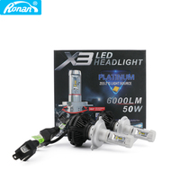 RONAN Super Bright ZES H1 H4 H7 X3LED Car Headlights 3000K/6000K/8000K Yellow White Ice Blue Lamp H8/H11 9005/HB3 9006/HB4 Bulb