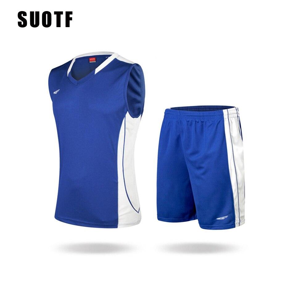 Suotf высокого класса спортивный тренировочный костюм Баскетбол комплект одежды воздухопроницаемой сеткой Джерси Баскетбол Шорты Пол Джорд... ...