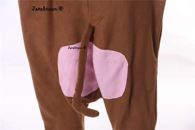 Adult Brown Monkey Costume For Men Women With Tail Cute Warm Thick Cosplay Costumes Fleece Animal Clothes Disfraces Adultos