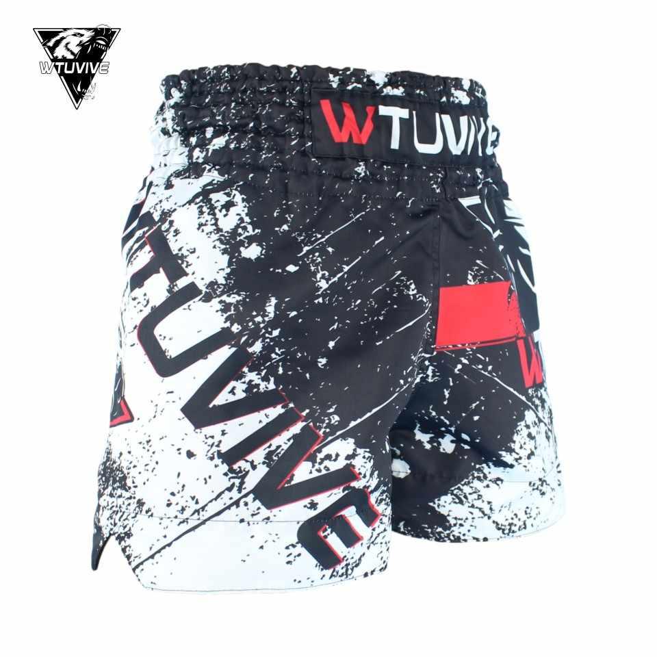 Wtuvive MMA Tiger Muay Thai Tinju Pertandingan Tinju Sanda Latihan Bernapas Celana Pendek Muay Thai Pakaian Tinju Tiger Muay Thai MMA
