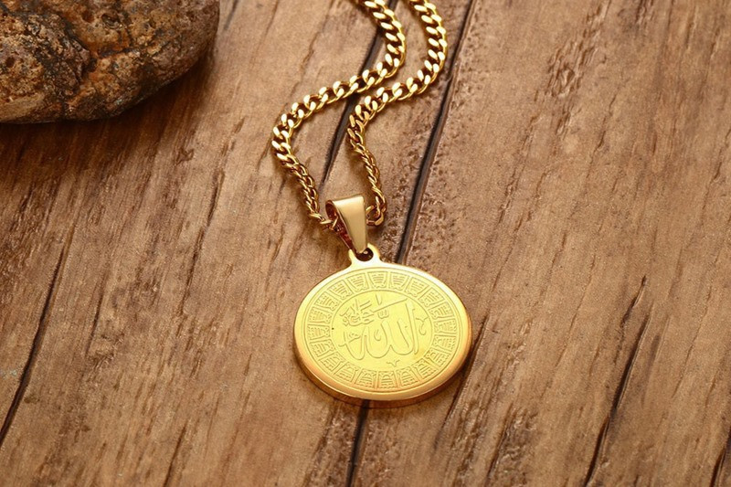 Image 4 - ZORCVENS Islam Muslim Ancient Coins Necklaces Gold Color Arab  Money Sign Chain Middle Eastern Coin ItemsPendant Necklaces   -
