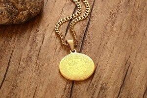 Image 4 - ZORCVENS Ислам Мусульманские древние монеты ожерелья Золотой Цвет Арабский знак денег цепь товары для монет на Ближнем Востоке