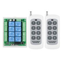 433 Mhz DC 12 V 8 8CH CH RF Sistema de Controle Remoto Sem Fio Interruptor de Controle Remoto Relé Receiver + 8 botão do Transmissor