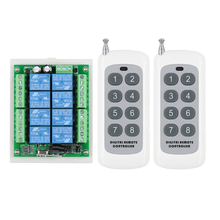 433 mhz dc 12 v 8 ch rf 무선 원격 제어 스위치 원격 제어 시스템 8ch 릴레이 수신기 + 8 버튼 송신기